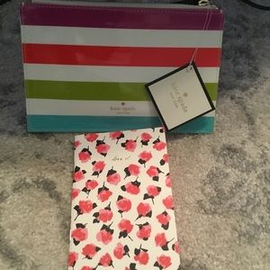 Kate Spade New York Stripe Pencil Pouch & Note Pad
